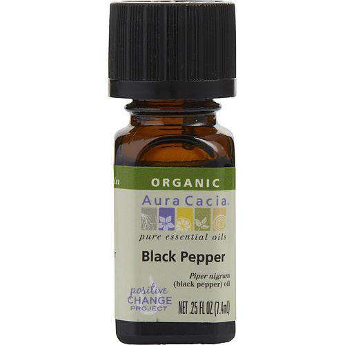Essential Oils Aura Cacia By Aura Cacia Black Pepper-organic Essential Oil .25 Oz