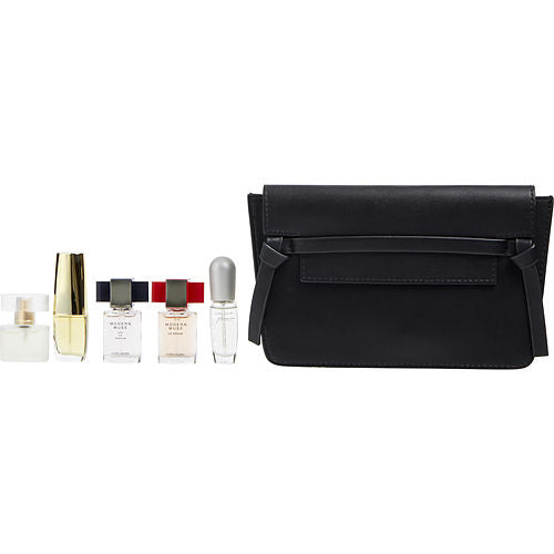 Estee Lauder Variety By Estee Lauder 5 Piece Mini Variety With Pleasures & Modern Muse Le Rouge & Modern Muse & Pure White Linen & Beautiful & Cosmetic Bag And All Are Edp Spray Minis