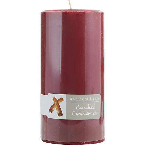 Candied Cinnamon By  One 3x6 Inch Pillar Candle.  Burns Approx. 100 Hrs.