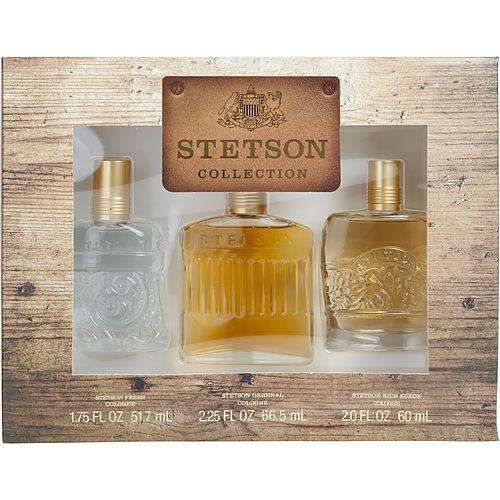 Stetson Variety By Coty 3 Piece Variety With Stetson Cologne 2.25 Oz & Stetson Rich Suede Cologne 2 Oz & Stetson Fresh Cologne 1.75 Oz