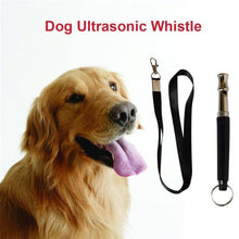 Load image into Gallery viewer, 1 Set Black Ultrasonic Pet Dog Trainning Whistle