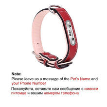 Load image into Gallery viewer, 1 pc Customized Engraved Dog Collar Genuine
