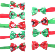 Load image into Gallery viewer, 1PC Christmas Holiday Pet Cat Dog Collar Bow Tie