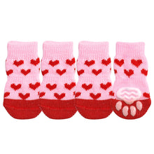 Load image into Gallery viewer, 4pcs/lot Dog Shoes Lovely Warm Dog Socks Anti slip