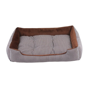 6 Size Pet Bed Dog Warm Pad Winter Mat Striped Pet Products Small Medium Large Big Size Easy to Clean Kennel Waterproof Pet Nest