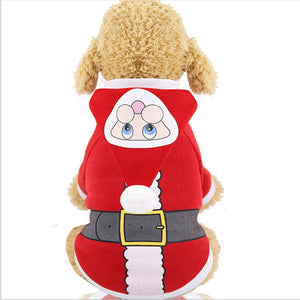 Christmas Cat Costume Pet Dog Clothes Pet Hoodies