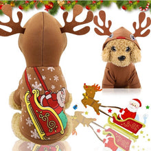 Load image into Gallery viewer, Christmas Cat Costume Pet Dog Clothes Pet Hoodies