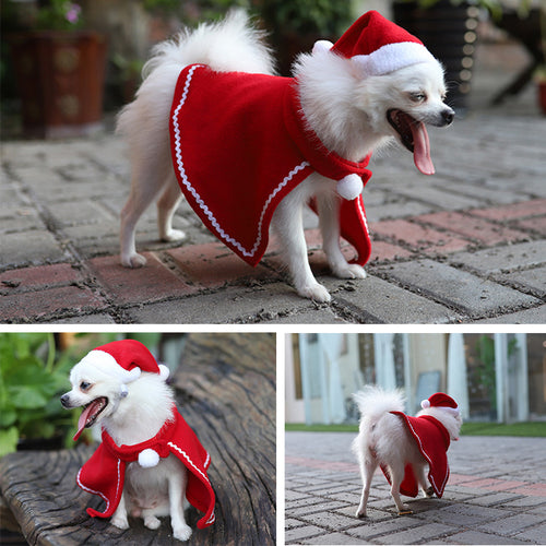 Christmas Cat Dog Cloak Xmas Party Pets Dogs Cats