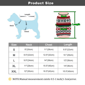 Christmas Dog Cat Clothes Pet Puppy Knitted