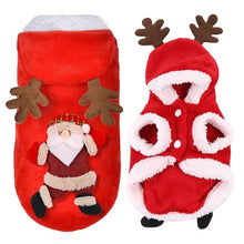 Load image into Gallery viewer, Christmas Dog Clothes Fleece Dog Coat Santa Dog