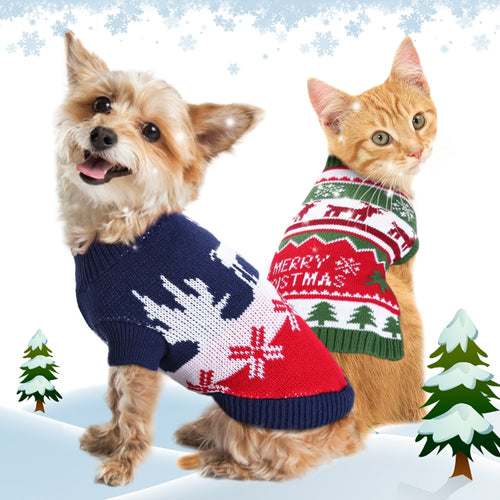 Christmas Dog Pet Clothes Winter Cat Puppy Sweater