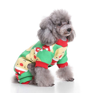 Christmas Elk Dog Cat Cotton Sweater Pet Autumn