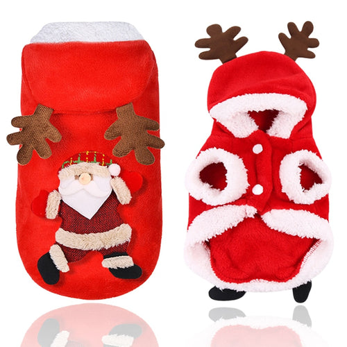 Christmas Pet Cat Clothes Costume Cute Cartoon