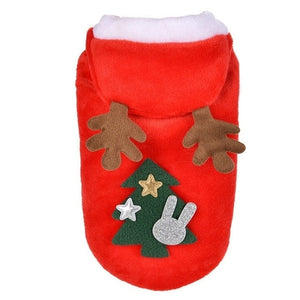 Christmas Pet Dog Clothes Cat Costume Santa Claus