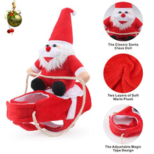 Load image into Gallery viewer, Christmas Pet Dog Clothes Santa Claus Riding a