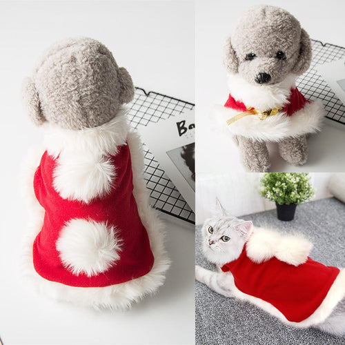 Christmas Small Dog Clothes Santa Pet Dog Cat