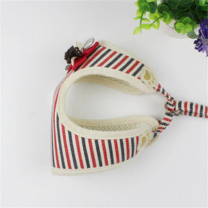 Classic Strip Pet dog Harness Vest with 120cm