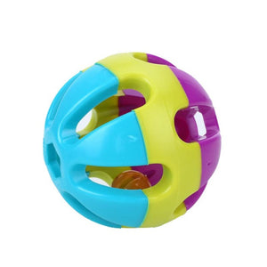 Colorful Bird Ball Toy With Bell Parrot Chewing