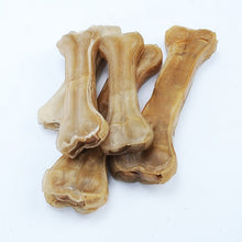 Load image into Gallery viewer, Cowhide Leather Pressing Bone Chews Teething Stick