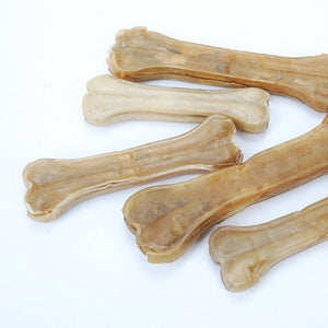 Cowhide Leather Pressing Bone Chews Teething Stick