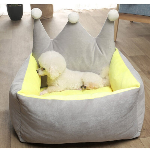 Crown Princess Dog Beds Warm Winter Cat Bed Nest