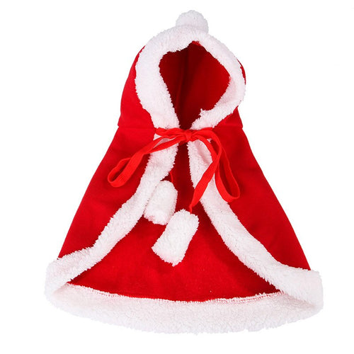 Cute Christmas Dog Coat Cat Costume Soft Warm Cat