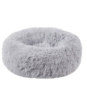 Dog Bed Long Plush Super Soft Pet Bed Kennel Round Kennel Dog House Cat Winter Warm Sleeping Bag Puppy Cushion Mat  Dog Supplies