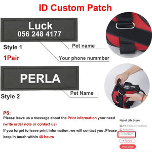 Dog Harness NO PULL Reflective Breathable Adjustable Pet Harness For Dog Vest ID Custom Patch Outdoor Walking Dog Supplies