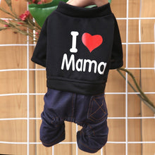 Load image into Gallery viewer, Dog Sets Fashion Pet Love Heart Design Costume Dog Clothes I Love My Mom Puppy Spring Autumn Clothing