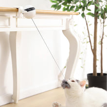 Load image into Gallery viewer, Electronic Motion Cat Toy Cat Teaser Toy Yo-Yo Lifting Ball Electric Flutter Rotating Interactive Puzzle Smart Pet Cat Ball Toy