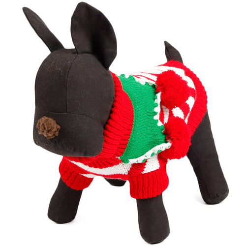 Free Shipping Cute Pet Christmas Sweater Stripe