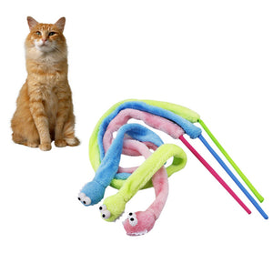 Funny Cat Rod Cartoon Snake Mint Cat Sound Stuffed