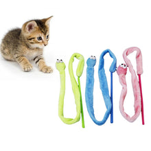 Load image into Gallery viewer, Funny Cat Rod Cartoon Snake Mint Cat Sound Stuffed
