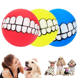 Funny Pets Dog Puppy Cat Ball Teeth Chew Toys Dogs Toys Squeaking Pet Supplies Petshop Play Popular Toys for Small Large Dogs