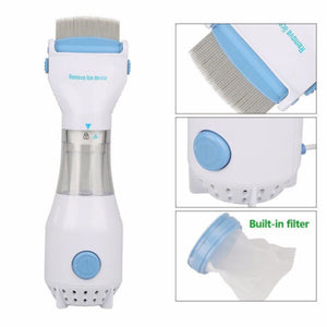High Quality Practical Head Vacuum Lice Comb Electric Capture Pet Filter Lice Treatment New