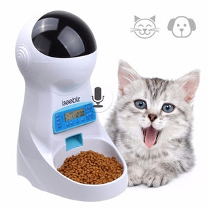 Iseebiz 3L Automatic Pet Feeder With Voice Record