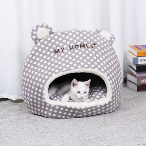 Lovely Pet Cats Beds Houses Thick Warm Sofa Kennel