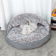 Load image into Gallery viewer, Luxury Pet Dog Bed Round House Super Warm Soft