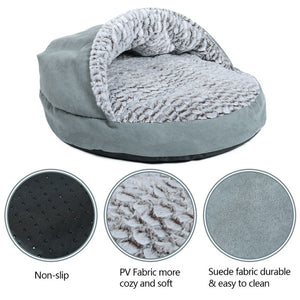 Luxury Pet Dog Bed Round House Super Warm Soft
