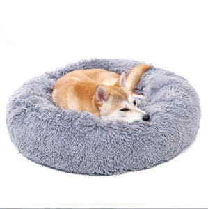 Luxury Pet Dog Beds Round Houses Long Wool Super
