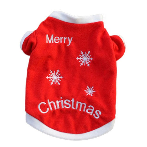 Merry Christmas Pet Cat Puppy Autumn clothes shirt