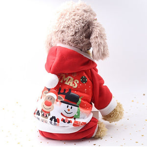 New Christmas Dog Clothes For Small Dog Pet Xmas