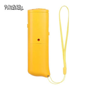 New Ultrasonic Dog Chaser Aggressive Attack Repeller Trainer LED Flashlight training Repeller Control Anti Bark Barking