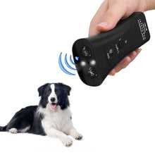 Load image into Gallery viewer, New Ultrasonic Dog Chaser Aggressive Attack Repeller Trainer LED Flashlight training Repeller Control Anti Bark Barking