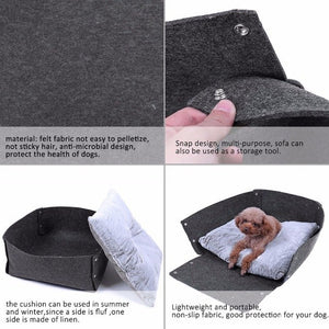 3in1 Pet Bed Dog Cat Felt Bed