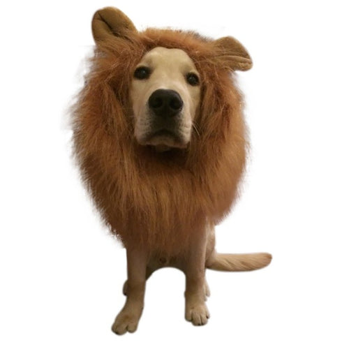 Pet Costume Dog Lion Wigs With Ears Mane Hair Pet