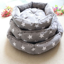 Load image into Gallery viewer, Pet Dog Round Beds Puppy Couch Cute 3 Pattern Soft
