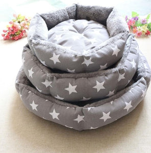 Pet Dog Round Beds Puppy Couch Cute 3 Pattern Soft