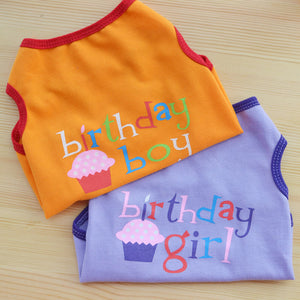 Pet Small Dog Clothes Cat Vest Birthday Suit For