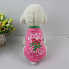 Load image into Gallery viewer, Pink Christmas Berry pet cat dog T shirt Vest
